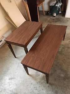 Coffee table and end table.