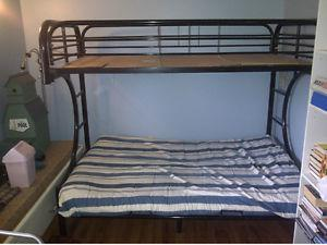 Futon bunk bed. Couch on bottom single bed on top