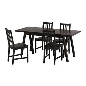 Ikea black kitchen table with chairs