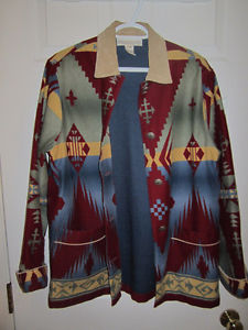 JONES NEW YORK brushed denim patterned jacket
