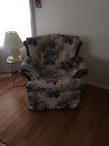 Living Room Chair - Flowery Pattern