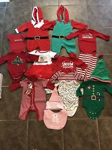 Lot of of 3-6 Month Christmas clothing