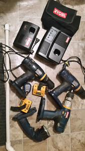 Lots of Ryobi 18V Tools for Sale Online Comes with 3 drills