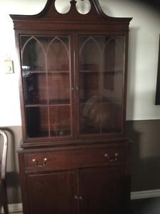 Mahogany antique dining room suite