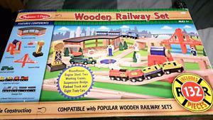Melissa and Doug Wooden Railway set