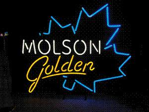 Molson Neon Beer Sign