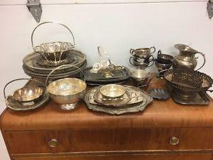 Old silver/silver plated items