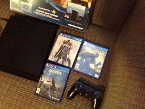 PS4 with 3 games, one controller, $340