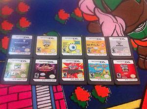 TEN Nintendo DS 3DS game carts lot #7