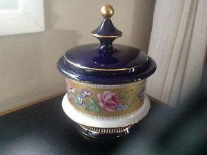 Vintage s Porcelain Florentine Italy Candy Dish- Hand