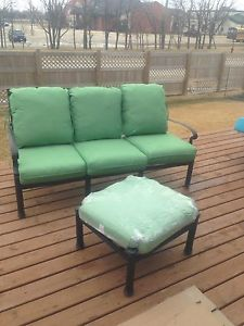 Wrought Iron Patio Benach with Ottoman (BRAND NEW)