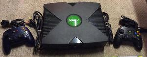 Xbox with 2 Controllers and 19 Games!