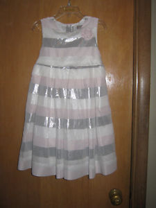 white, pink and silver dress