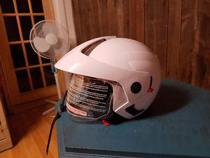 3/4 open face helmet with visor and sum shield