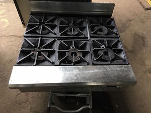 6 burner range (counter top)