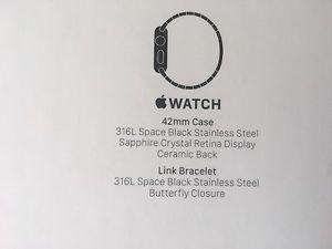 Apple Watch 42 mm with black stainless steel bracelet