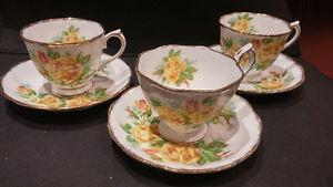 Bone China Tea Cup with Saucer set of 3