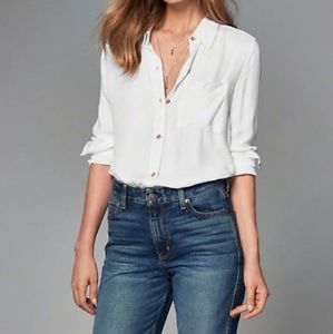 Brand New- Drapey Button-up Shirt- Abercrombie&Fitch