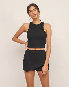 Brand New- Structure Ponte Crop Top- Abercrombie&Fitch