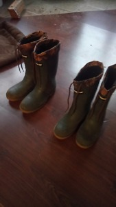 Insulated Baffin Rubber boots, $40 each or both for $70