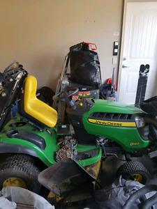 John Deere lawn tractor w/ accessories