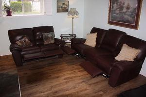 Leather Sofa and Love Seat