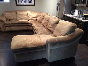 MOVING SALE!! Lazy Boy Surround couch with pull out double