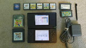 Nintendo DS + Games + Flashcard