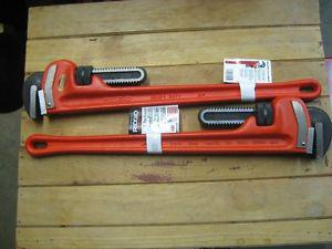 RIGID 24 INCH STEEL PIPE WRENCHES