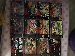 SNES CIB and boxed collection of games