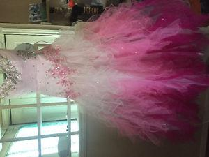 Size 8 pink multicolour prom dress