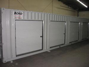 Steel roll up doors.