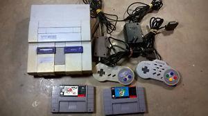 Super Nintendo with Super Mario World