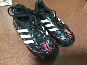 Toddler/child's size 9 pink Adidas soccer cleats