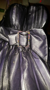 Tony Bowls Le Gala - Purple and Black Short Dress