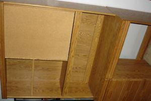 Wooden Desk/Book Shelf