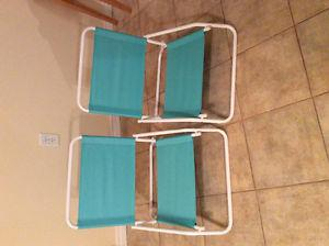 2 beach/ pool chairs