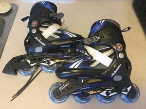 2 pairs Schwinn roller blades like new adjustable size 1-4
