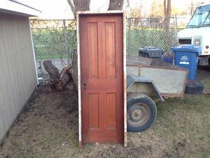 """24"""" X 72"""" antique door with frame"""