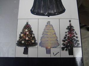 "32"" white fibre optic coloring changing tree, new in the box"