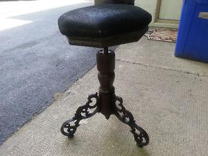 Antique Victorian Ornate Cast Iron Feet Piano stool