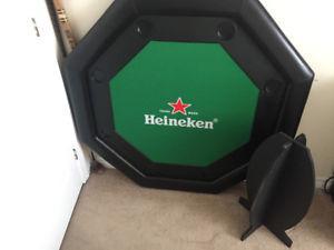 BRAND NEW HEINEKEN POKER TABLE (NEVER USED)