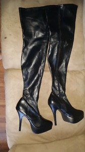 Brand new thigh-high boots size 10 never worn