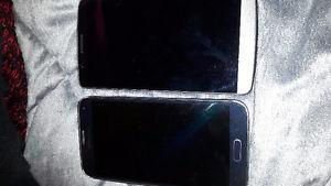 Broken phone: both need new screens. (With bell/virgin)