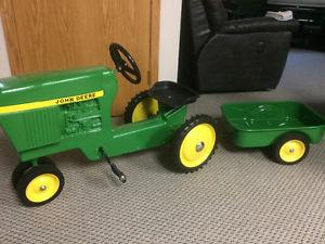 Ertl 520 John Deere pedal tractor and trailer