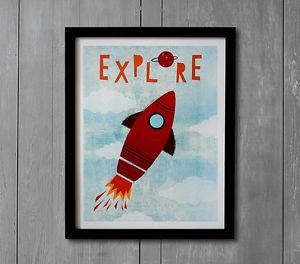 Explore Your World Art with Frame by Pottery Barn Kids