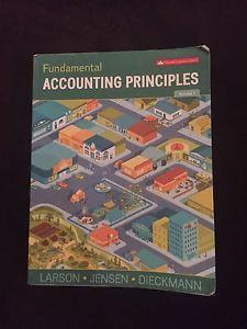 Fundamental Accounting Principles text book.