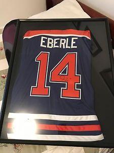 Jordan Eberle autographed jersey in frame