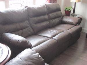 Leather Recliner couch set