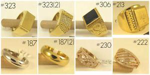 NEW 9K-18K White/Yellow Gold Filled Mens and Womens